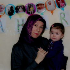 Lawyer Ozge Elif Hendekci with her baby Bahar are seen in prison in the first birthday of Bahar.