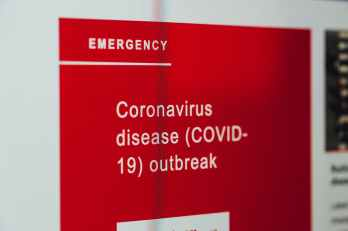 coronavirus news on screen