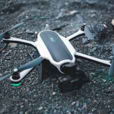 close up view of drone on the ground